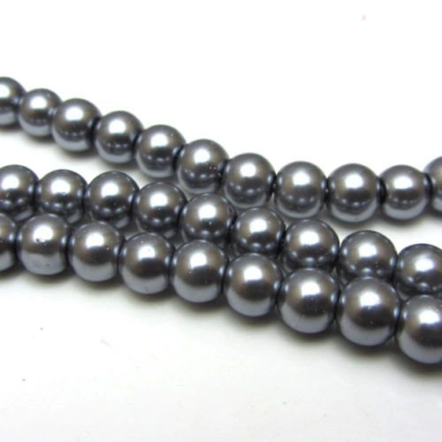 100 Pieces 6mm Round Bright Czech Glass Pearl Beads