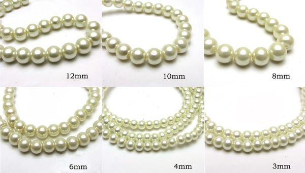 150 Pieces 3mm Round Shiny Czech Glass Pearl Beads