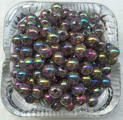 20 Pieces 10mm Round Acrylic Crackle Beads