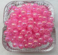 40 Pieces 8mm Round Acrylic Crackle Beads