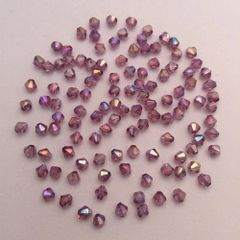 500 Pieces 4mm Round Shiny Acrylic Bicone Beads