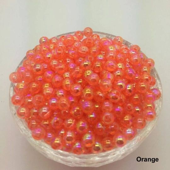 50 Pieces 6mm Electroplated Glass Round Loose Beads