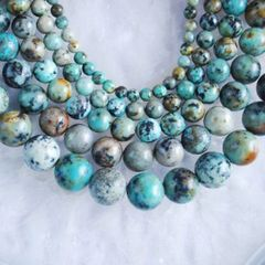 Genuine African Turquoise Loose Round Beads 4-12mm