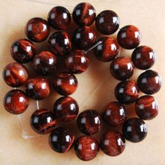 Genuine Red Tiger Eye Round Loose Beads 4-16mm