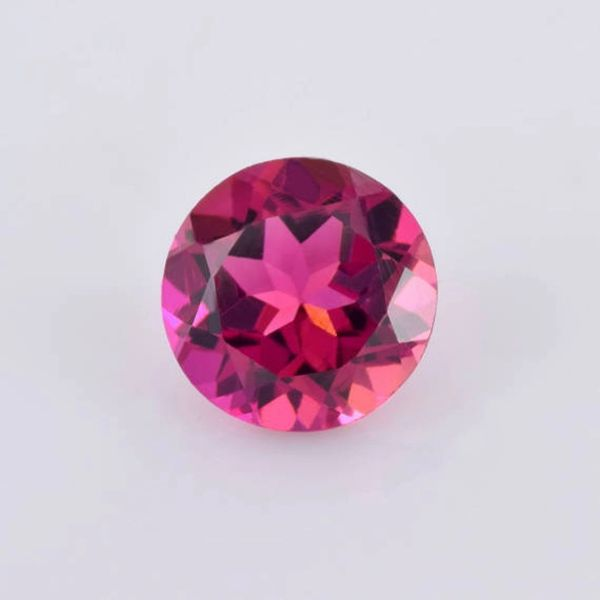 Masterpiece Collection: (1) Round Faceted AAA Rated Genuine Bright Pink Tourmaline (2, 2.5, 3 & 3.5mm available)