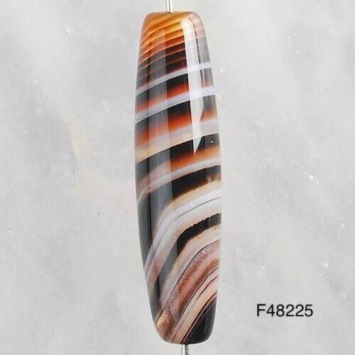 25x6mm Genuine Stripes Agate Bead -Our genuine agate beads are one of a kind!