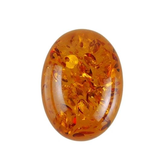 OVAL CABOCHON GENUINE (NATURAL) AMBER (6x4mm - 16x12mm)