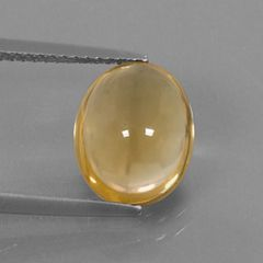 OVAL CABOCHON GENUINE (NATURAL) BRIGHT GOLDEN YELLOW CITRINE (6x4mm - 10x8mm)