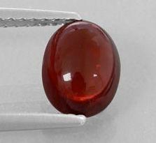 OVAL CABOCHON GENUINE (NATURAL) BRIGHT ORANGE RED GARNET (6x4mm - 10x8mm)