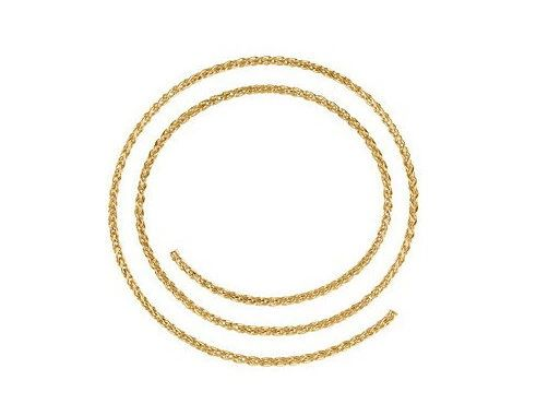 "1.8mm Wide Sterling 14kt White or Yellow Gold Wheat Chain With Lobster Claw Clasp: 1"", 16"", 17"", 18"", 20"" & 24"""