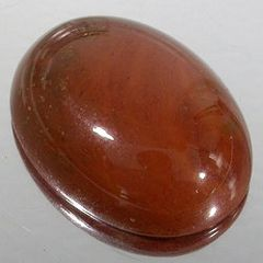 OVAL CABOCHON GENUINE BIRCH RED JASPER (6x4mm - 18x13mm)