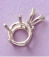 14kt Gold or Sterling Silver Round 5-Prong Pendant Setting (9-15mm)