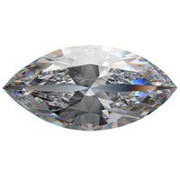 MARQUISE FACETED AAAAA RATED GLACIER WHITE CUBIC ZIRCONIA (4x2-20x10mm)
