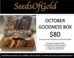 October SeedsOfGold Goodness box
