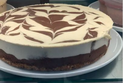 MARBLE CACAO & MACADAMIA RAW CAKE - Pick up & local delivery only
