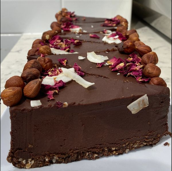 LOW CARB HAZELNUT RAW CAKE - Pick up or local delivery only