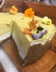 Organic Mango and Macadamia Raw Cake