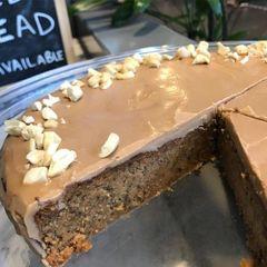Low Carb Caramel Mudcake Torte Slice