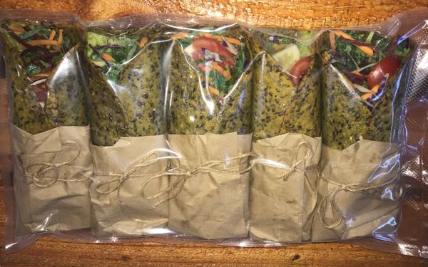 Raw Salad Wrap packs