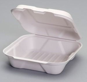 Harvest Fiber - Compostable Medium Hinged Container - 200/CS