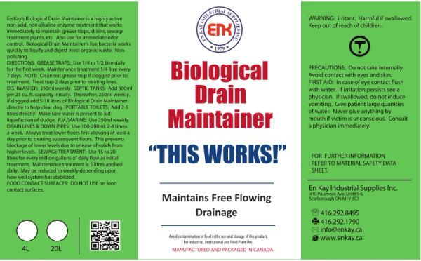 En Kay Biological Drain Maintainer 10L - 2/CS