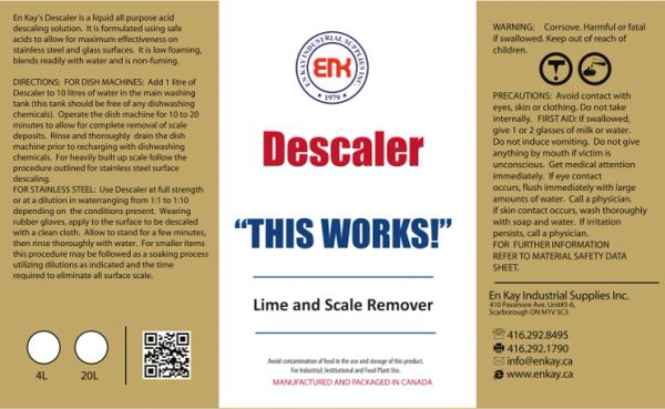 En Kay Descaler 4L - 4/CS