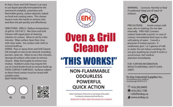 En Kay Oven & Grill Cleaner 4L - 4/CS