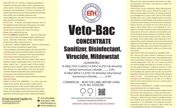 En Kay Veto-Bac Concentrate 4L - 4/CS