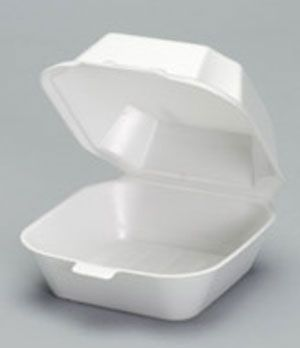 Foam Hinged Medium Sandwich Container - [22400] - 500CS