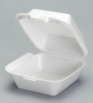 Foam Hinged Large Snap-It Sandwich Container - [SN225] - 500CS