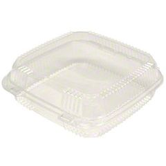 "Pactiv - Clear Hinged Lid Container - [1120] - 8.2"" x 8.34"" x 2.9"" - 200/CS"