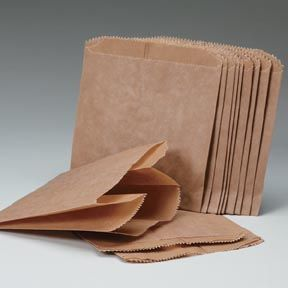 "Kraft Sani Sac Bags Liners - 7"" x 4"" x 10"" - Waxed - 500/CS"