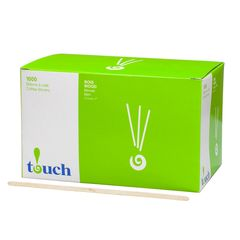 "Touch - 7"" Wooden Coffee Stir Sticks - [80414] - 1000/Box"