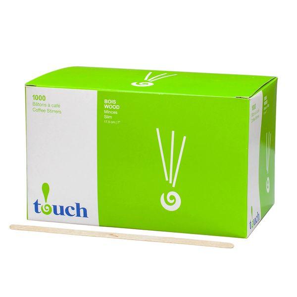 """Touch - 7"""" Wooden Coffee Stir Sticks - [80414] - 1000/Box"""