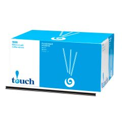 "Touch - 7"" Plastic Coffee Stir Sticks - [92127] - 1000/Box"