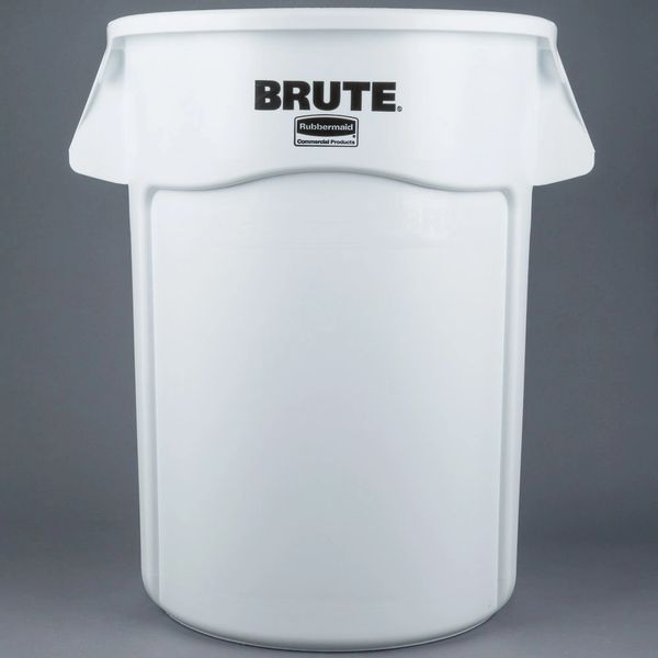 Rubbermaid - 1779740 - BRUTE 44 Gallon White Trash Can