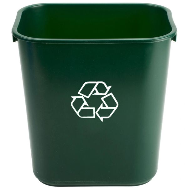 Rubbermaid - 1829412 - Wastebasket, Small - Green