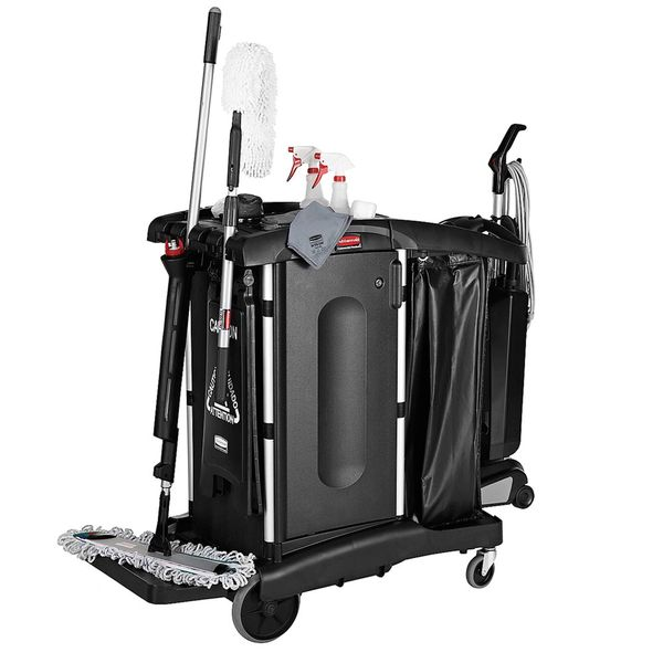 Rubbermaid - 1861427 - Executive Janitorial Cleaning Cart - High Security
