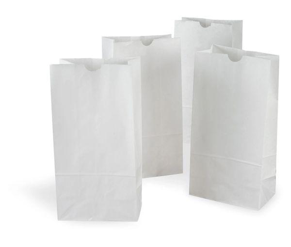 White Paper Bags - 500/PK