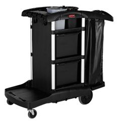 Rubbermaid - 1861428 - Executive Janitorial Cleaning Cart with Bins - High Capacity