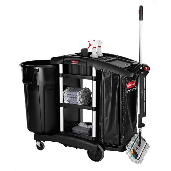 Rubbermaid - 1861429 - Executive Janitorial Cleaning Cart - High Capacity