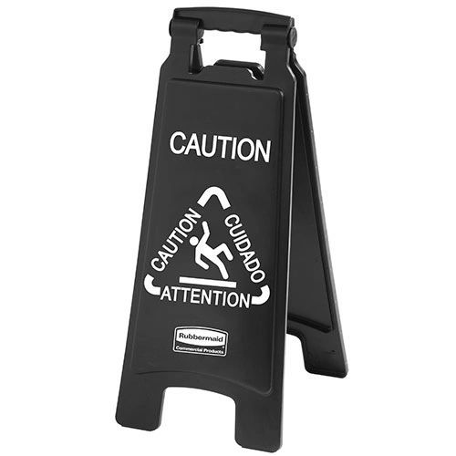 Rubbermaid - 1867505 - Executive Multi-Lingual Caution Sign - 2-Sided