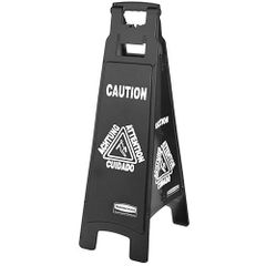 Rubbermaid - 1867509 - Executive Multi-Lingual Caution Sign - 4-Sided