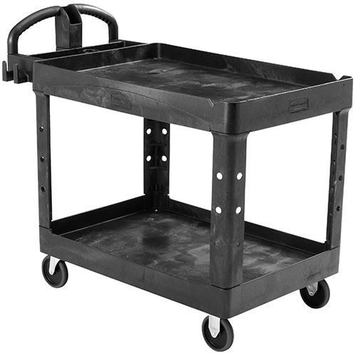 Rubbermaid - 1867535 - Executive Heavy-Duty 2-Shelf Utility Cart with Quiet Casters