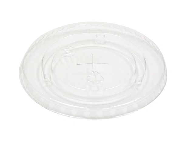 Pactiv - [YLP24C] - Clear Flat Lid w/Straw Slot for YP1412C Clear PET Cup - 1020/CS