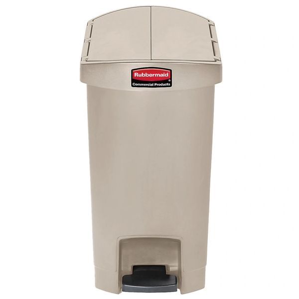Rubbermaid - 1883558 - Slim Jim End Step Resin Step On - 13 Gallon