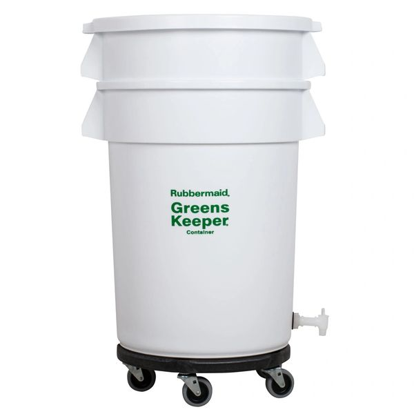 Rubbermaid - 262400 - BRUTE GreensKeeper Container With Lid & Dolly - 20 Gallon