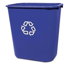 Rubbermaid - 295573 - Deskside Recycling Container, Small with Universal Recycle Symbol