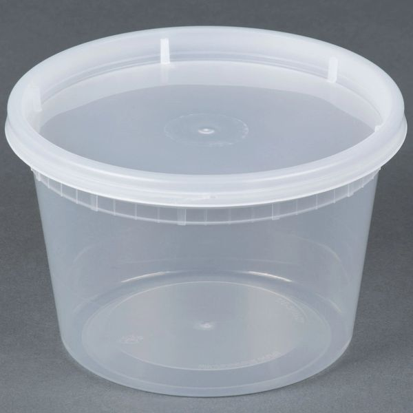 Microwavable Container - 16oz Deli Container - [PCM] - 16oz - 250 Sets / Case