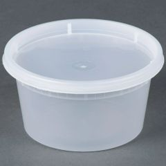 Microwavable Container - 12oz Deli Container - [PCM] - 12oz - 250 Sets / Case